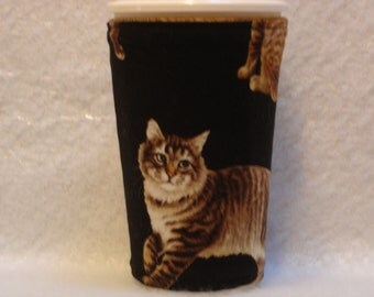 Arti REVERSIBLE Coffee Cup Sleeve, For Starbucks  To-Go Cups / CATS Pocket Reverse