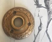 Vintage Historical Cast Bronze Sargent Door Rosette - Old Ornate Hardware