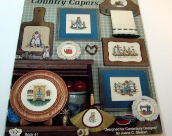 Canterbury Designs Country Capers Cross Stitch patterns by Juana C. Stewart  Book 41 1985