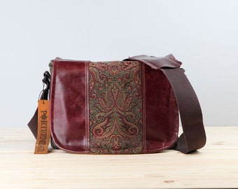 Medium - Leather Camera Bag New Satchel  -  Berry and Wine Leather DSLR - IN STOCK