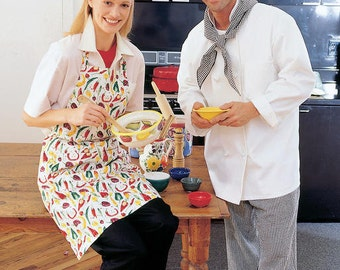 Apron and kitchen sewing pattern-Apron, chef hat and more M2233 -Misses and Men's