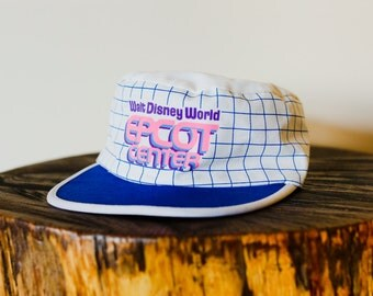 80s 90s Epcot Center Walt Disney World Baseball Cap Hat