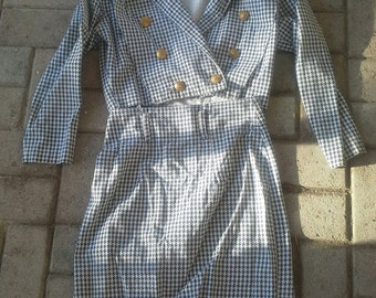 Super Cute Little Californian Suit: late 1980s blue white check