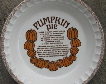 royal china pumpkin pie deep dish plate country harvest ironstone rustic country farmhouse 1983