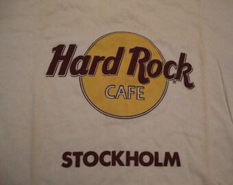 Vintage  Hard Rock Cafe Stockholm Sweden Tourist T Shirt L