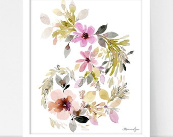 Art Print Hydrangea and Provence Twirl