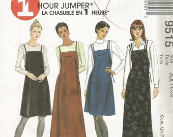 McCall's 9515 Misses  1 Hour Jumper Pattern SZ 4-8