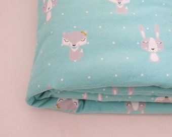 Sale - Baby blanket , fox baby blanket , woodland animals , baby boy bedding , personalized baby blankets