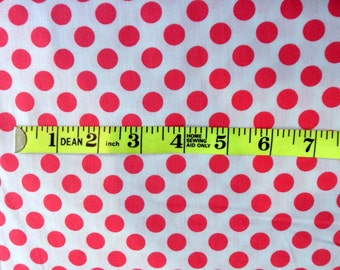 Polka Dot Fabric Michael Miller Cotton Fabric Shrimp Pink Cotton Fabric Sewing Fabric Quilting Fabric Craft Supply