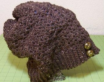 Crocheted wool slouchy