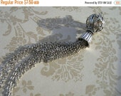 sale New French Style Finery Whispy Platinum color Tassel Pendant