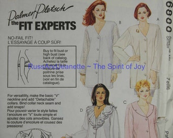 SIze 8 10 Small McCalls 6888 Blouse Shirt Top Tunics Vintage Womens Misses  Uncut Sew Sewing Pattern