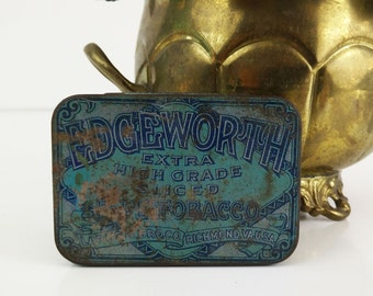 Edgeworth Pipe Tobacco Tin / Vintage Tobacciana