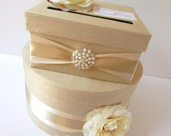 Wedding Card Box, Money Box, Custom Card Box, Champagne Envelope Box - Custom Made to Order