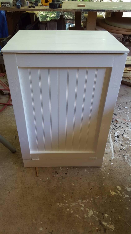 Tilt Out Trash Bin Kitchen Trash Can Wooden By Repurposemama