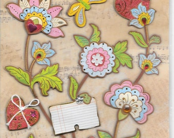 Special Moments Brand  --   Dimensional Stickers  --  Florals  --  NEW --   (#1615)