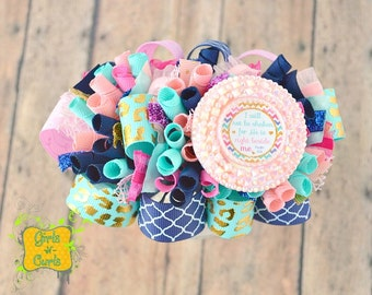 Ready To Ship I Will Not Be Shaken He Is Right Beside Me Funky Loopy Hairbow