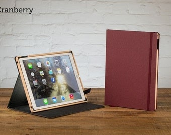 The Contega Linen iPad Pro 9.7 Case - Linen Cranberry