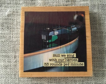 Vinyl Record Sign with Gaslight Anthem quote