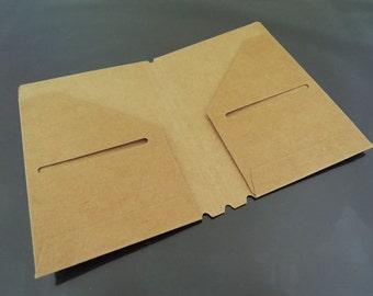 Card Folder - 5pcs Kraft Name Card Folders Paper Folder Small Folders File