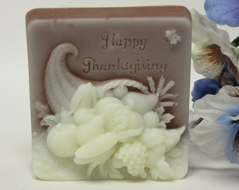Thanksgiving soap glycerin soap scented in orange clove