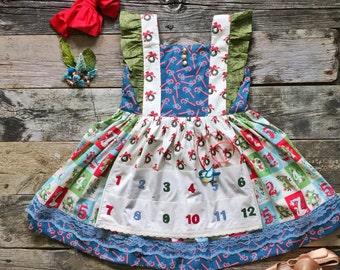 Girl's 12 days of Christmas Dress