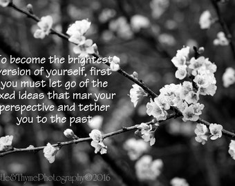 To become the brightest version of yourself - Quote Photographic print 5x7