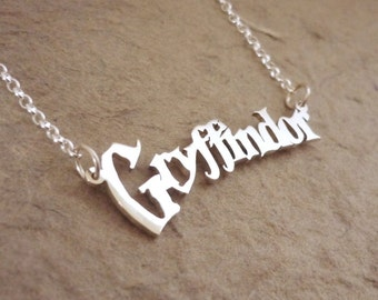 Go Go Gryffindor! Sterling silver necklace