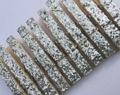 silver . glitter clothespins