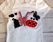 2 barnyard birthday shirt, two, cow, 2nd, girl  t shirt, barn yard, farm theme, white