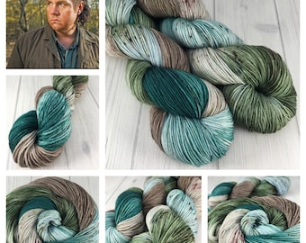 "Dyed To Order- ""Eugene"", Walking Dead Inspired, Hand Dyed, Superwash Merino Wool, Sock, DK, MCN, MCS, Worsted, Bulky"