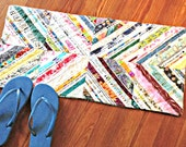 Bathroom Rug, Bath Mat, Selvage, Shower Rug, Laundry Room Rug, Nursery Rug, Dorm Room Rug, Kitchen Rug, Upcycled Rug, Area Rug