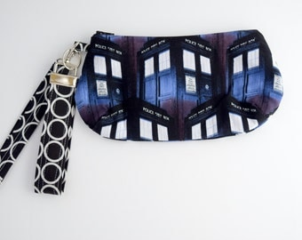 Geek Bag, Wristlet with Strap, Summer Bag, Zipper Pouch, Key Fob, Gift Set For Her, Handmade, Ready to Ship
