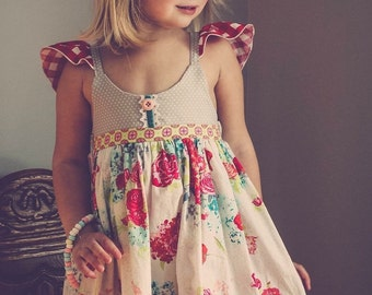 Elin Dress Girls Dress Available in Sizes 6 months to 8 years