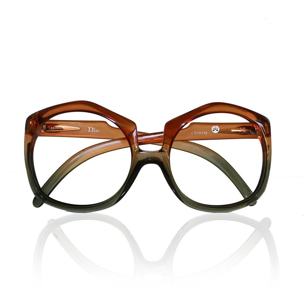 Large Vintage Christian Dior Eyeglasses Frames - Ombre Plastic ...