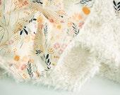 Wispy Daybreak Baby Blanket - Faux Fur Blanket - Toddler Blanket - Floral Baby Blanket