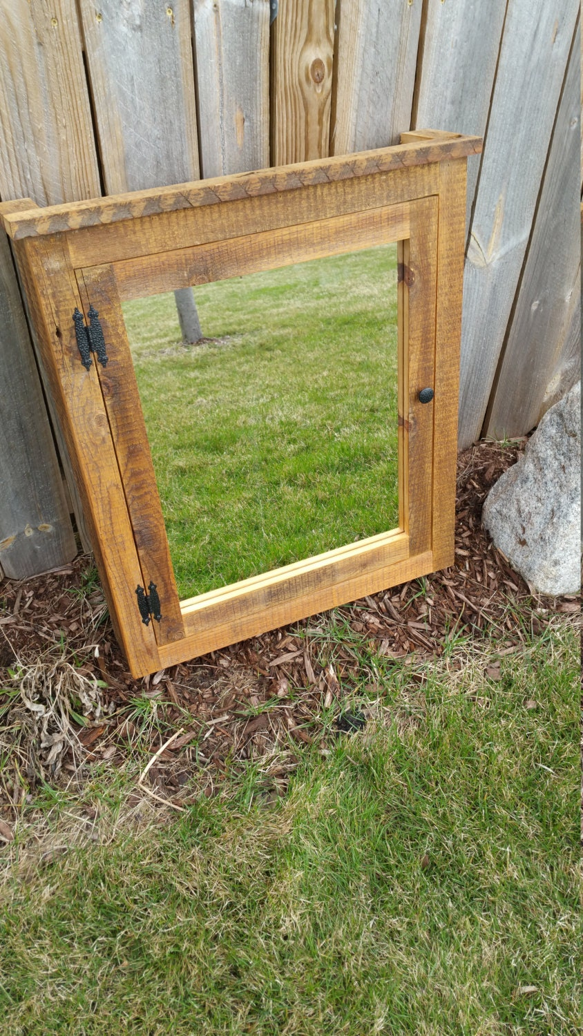 barn medicine cabinet with mirror made from rustic reclaimed. Black Bedroom Furniture Sets. Home Design Ideas
