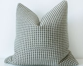 Black Tan and white Tweed Pillow Cover