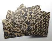 Pattern Kraft Mini Envelopes set of 5/ #2 - Handmade envelopes, Office supplies, Kraft card stock