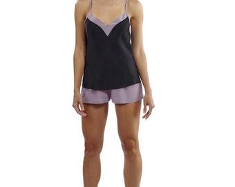 Natasha Black silk camisole - Black silk camisole -  silk cami top