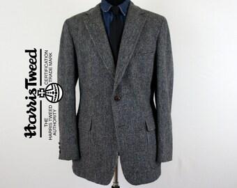 Harris Tweed Blocks Wool Tweed Jacket - US/UK Size 43