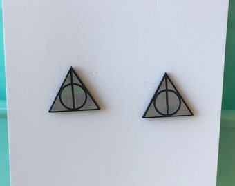 Harry Potter Deathly Hallows inspired earrings
