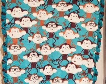 Cuddly Blanket for Baby or Toddler - Happy Monkeys!