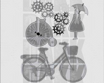 Bikes and Gears PNG and SVG Files