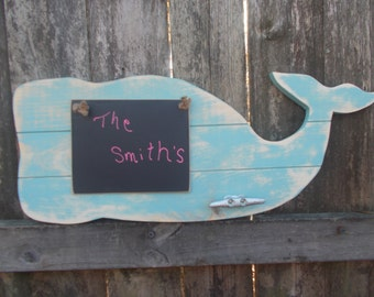 Beach Home Decor==Beachy Sign===Whale Decor===Whimsical Whale Wall Plaque===Boat Cleat