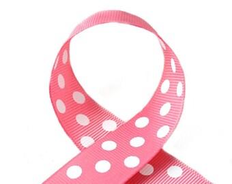 Fantasy Rose Polka Dots 1-1/2 inch Polka Dot Grosgrain Ribbon - Polka Dot Ribbon, Polka Dot Hair Bow, Polka Dot Bow, Ribbon By The Yard