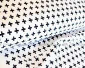 Black and white fabric, Jersey Knit Fabric, Infinity Fabric, Apparel Fabric, Jersey Knit Fabric, Robert Kaufman Fabrics, Cotton/Lycra