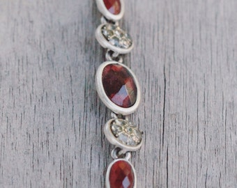 Ruby red necklace, statement necklace, gorgeous becklace