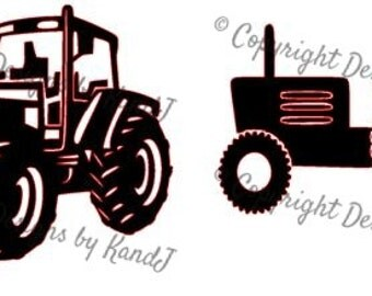 Tractor svg Tractor set of two svg digital cut file svg Instant download