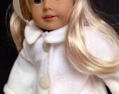 Generation Doll America Girl White Fleece Coat